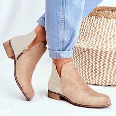 Vrouwen PU Low Heel Ronde neus met Dier Afdrukken schoenen