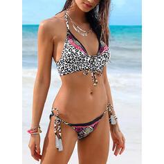 Leopard Ke krku Sexy Bikiny Costume de baie