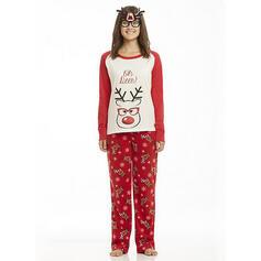 Dibujos animados Impresión Familia a juego Pijamas De Navidad