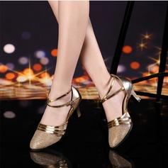 De mujer Sala de Baile Tacones Sandalias Cuero Estilo Moderno