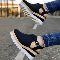 Női Szarvasbőr Egyéb Kerek lábujj -Val Csat cipő