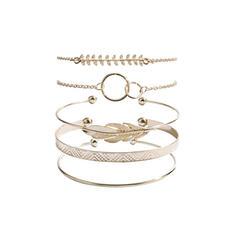 Unique Exquisite Stylish Alloy Jewelry Sets Bracelets Beach Jewelry (Set of 5 pairs)