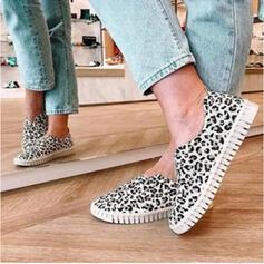 Pentru Femei PU călcâi plat Balerini cu Splice Color pantofi