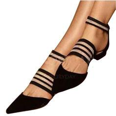 De mujer PU Tacón bajo Sandalias con Banda elástica zapatos