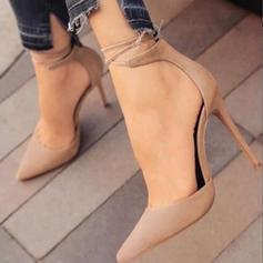 De mujer Cuero Tacón stilettos Salón con Cordones zapatos