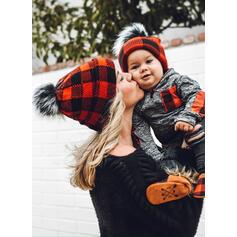 Tartan Caldo/Confortevole/Natale/Famiglia Partita Cappello