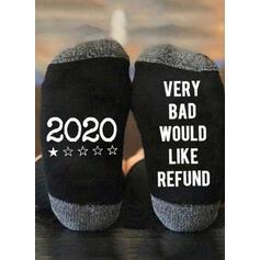 Dopis/Tisk Prodyšný/Komfortní/Vánoce/Posádkové ponožky/2020/Unisex Ponožky