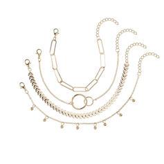 Unik Utsökt Snygg Legering Smycken Sets Armband Strand smycken (Set av 4 par)