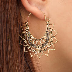 Vintage Flower Shaped Boho Alloy Earrings (Set of 2)