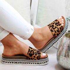 De mujer PU Tacón plano Sandalias Encaje con Otros zapatos