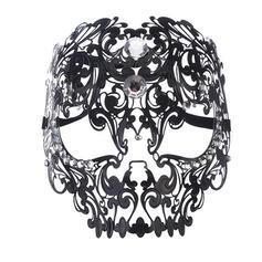 epocă Înspăimântător exotic Halloween Fantomă Ne dati ori nu ne dati Metal Recuzită de Halloween Masca