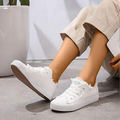 Women's Canvas Casual Athletic With Lace-up shoes