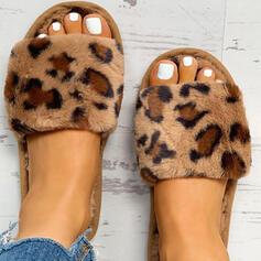 De mujer Tejido Tacón plano Pantuflas con Piel zapatos