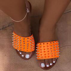 De mujer EVA Tacón plano Sandalias Pantuflas con Rivet zapatos