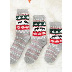 Christmas Reindeer Komfortní/Vánoce/Posádkové ponožky/Rodinné odpovídající/Unisex Ponožky