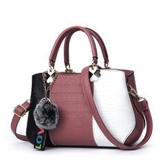 Módní/Vzor Aligátoří Kůže/Barva spoje/Multifunkční Tote Tašky/Crossbody tašky
