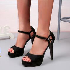 Dámské Koženka Jehlový podpatek Lodičky Podpatky S Přezka Solid Color obuv