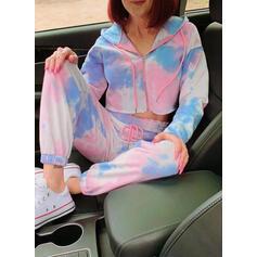 Cotone Maniche lunghe Tie Dye Set pigiama
