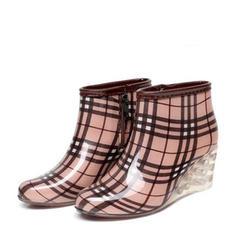 De mujer PVC Tipo de tacón Botas Botas longitud media Botas de lluvia con Otros zapatos