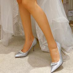 Γυναίκες Αφρώδης λάμψη Ψηλό τακούνι Γοβάκια Με Τεχνητό διαμάντι παπούτσια