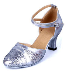 Women's Ballroom Sandals Leatherette Sparkling Glitter With Hollow-out Latin