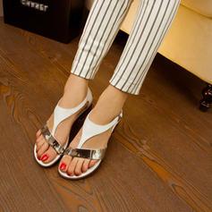Cuero Tacón bajo Sandalias zapatos