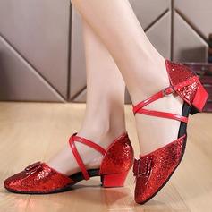 Mulheres Salão de Baile Saltos Sandálias Espumante Glitter Latino