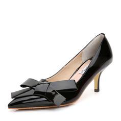 De mujer Piel brillante Tacón stilettos Salón con Bowknot zapatos