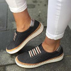Kvinnor PU Flat Heel Platta Skor / Fritidsskor Stängt Toe med Ihåliga ut skor
