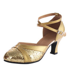 Vrouwen Ballroom Hakken Sandalen Kunstleer Sprankelende Glitter met Hol-out Latijn