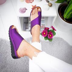 De mujer Cuero Tipo de tacón Sandalias Cuñas con Otros zapatos