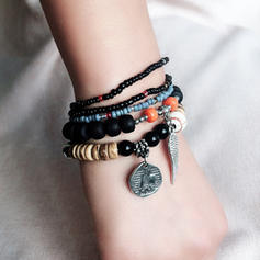 Stylish Alloy Resin With Resin Unisex Fashion Bracelets (Sold in a single piece)