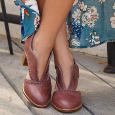 Mulheres PU Salto robusto Bombas com Outros sapatos