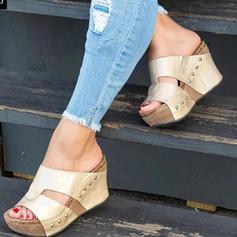 De mujer PU Tipo de tacón Cuñas con Rivet zapatos