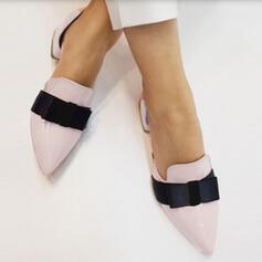Γυναίκες PU Χοντρό φτέρνα Μυτερά toe Με Bowknot παπούτσια
