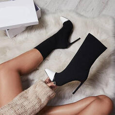 Women's PU Stiletto Heel Pointed Toe With Splice Color shoes