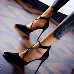 De mujer Ante Tacón stilettos Salón con Color sólido zapatos