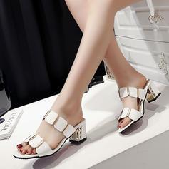 De mujer PU Tacón stilettos Sandalias Salón Pantuflas con Agujereado zapatos