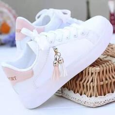 Women's PU Casual Outdoor With Lace-up Tassel shoes