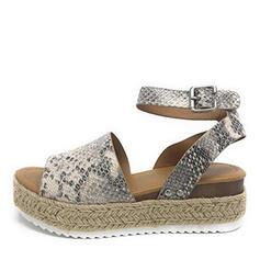 Pentru Femei PU Platforme Înalte Sandale Platforme cu Imprimeu Animal pantofi