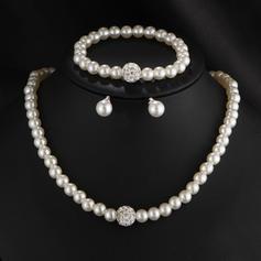 Nice Imitation Pearls With Imitation Pearl Ladies' Jewelry Sets