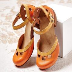 De mujer PU Tacón ancho Salón con Agujereado zapatos