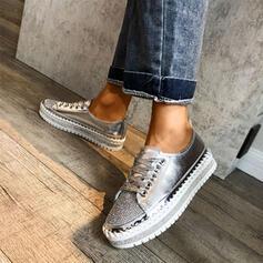 De mujer Piel brillante Casual al aire libre con Rhinestone Brillo Chispeante Banda elástica zapatos