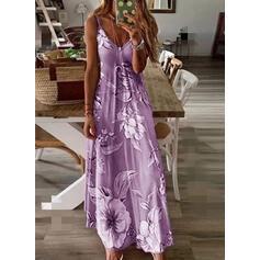 Impresión/Floral Sin mangas Vestidos sueltos Camisón Casual/Boho/Vacaciones Maxi Vestidos