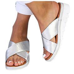 De mujer PU Tipo de tacón Pantuflas con Otros zapatos