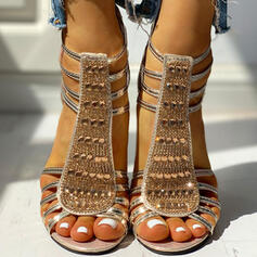 Τεχνητό διαμάντι Πούλια Φερμουάρ παπούτσια