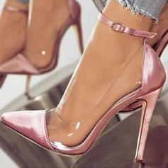 De mujer Satén Tacón stilettos Salón con Hebilla zapatos