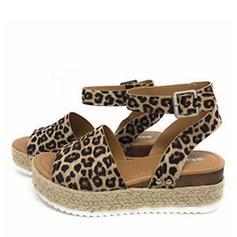 Konstläder Flat Heel Sandaler Platta Skor / Fritidsskor Plattform Peep Toe med Andra skor