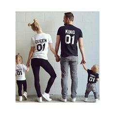 Literă Imprimeu De Familie T-Shirts