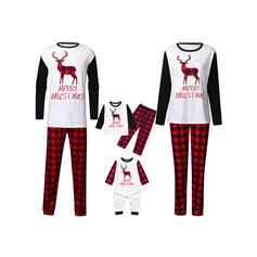 Rena Xadrez Carta Família Combinando Natal Pijama
